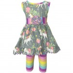 Unicorn Rainbow Dress Legging Set