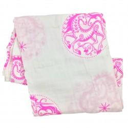 Unicorn 1 pk, Pink Organic Swaddling Blanket