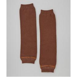 Brown Organic Baby Leg Warmers