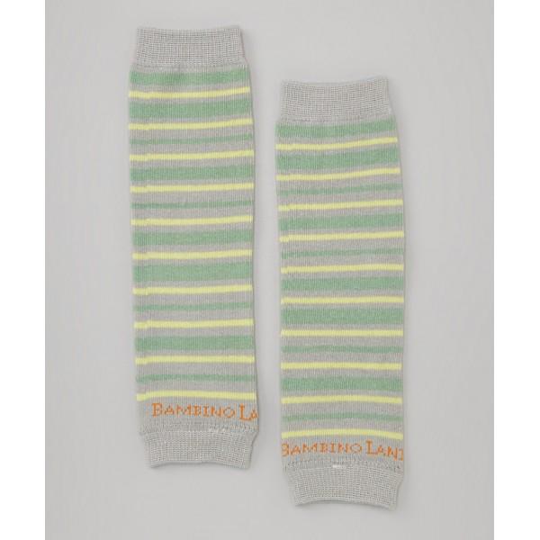 Green Stripes Newborn Organic Leg Warmers