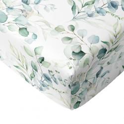 Crib Sheets Greenery 100% Cotton