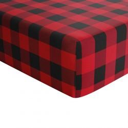 Crib Sheets Red Plaid 100% Cotton