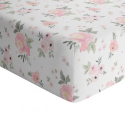 Crib Sheets Floral 100% Cotton