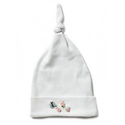 Rosebuds and Butterfly Hat - Pink