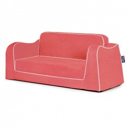 Little Reader Sofa Lounge - Coral and White