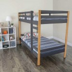 Letto Bunk Bed - Natural and Grey