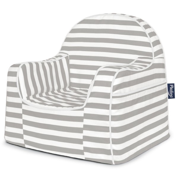 Little Reader Toddler Chair - Stripes Grey