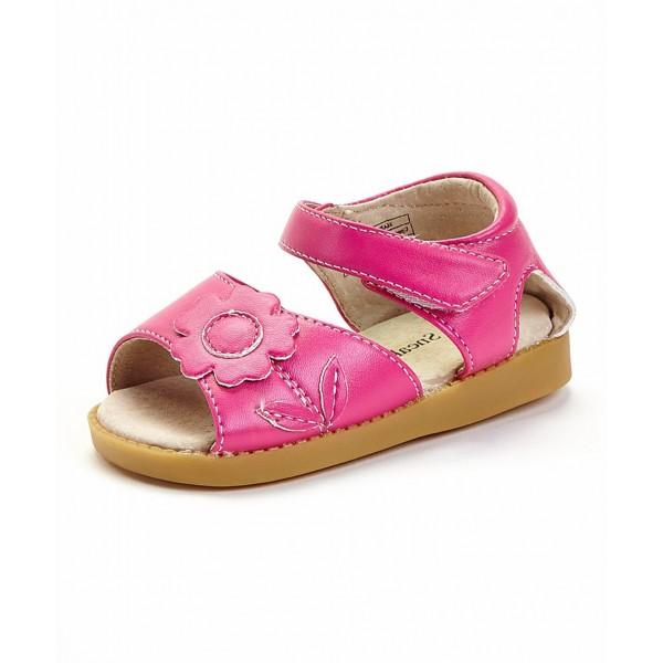 Girl's Hot Pink Flower Sandal