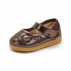 Girl's Brown Sparkle Mary Jane