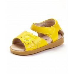 Girl's Yellow Flower Sandal