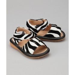 Girl's Zebra Sandals