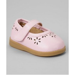 Girl's Pink Flower Cutout Shoe