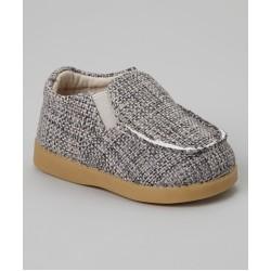Boys Grey Canvas Shoe