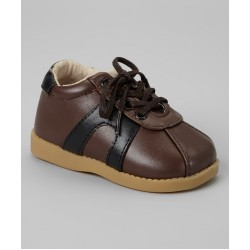 Boy's Black and Brown Lace Sneaker