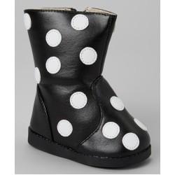 Girl's Black Polka Dot Boot