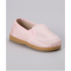 Girl's Pink Slip-On Canvas Shoe