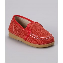 Girl's Red Slip-On Canvas Shoe