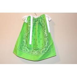 Bandana Dress in Lime Green