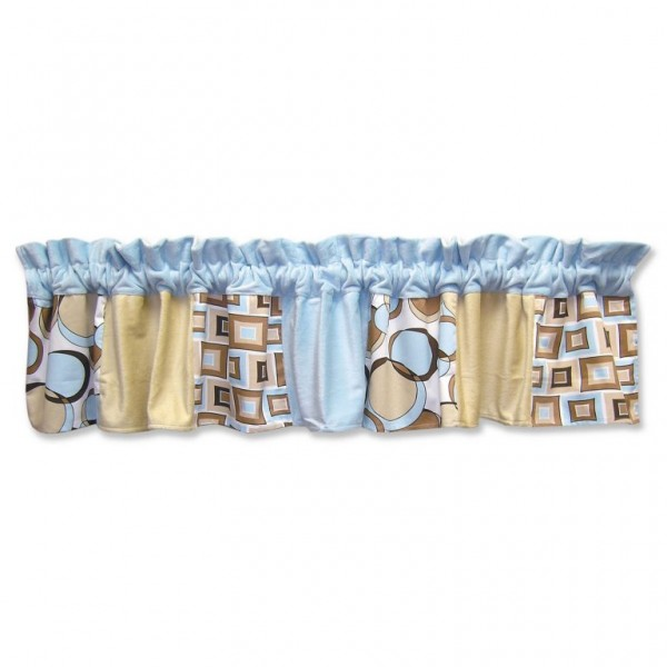 Bubbles Teal Window Valance
