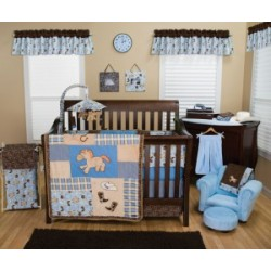 Cowboy Baby 3 Piece Crib Bedding Set