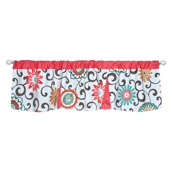 Waverly Pom Pom Play Floral Window Valance