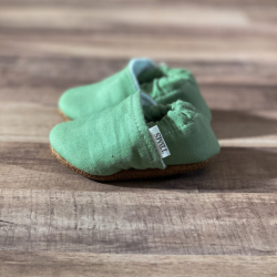 Green Solid Moccasins