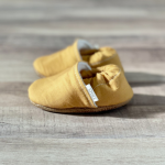 Mustard Yellow Solid Moccasins