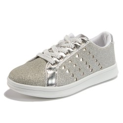 Hearts and Stars Street Sneakers Silver