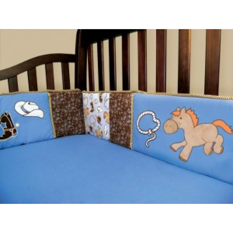 Cowboy Baby 3 Piece Crib Bedding Set | TooterBugBaby.com