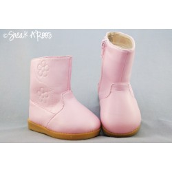 Girl's Pink Flower Boot