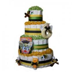 Buzzy Bee 4 Tier Organic Diaper Cake