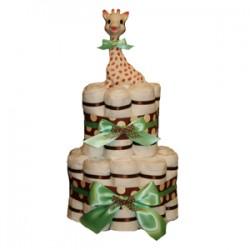 Green Polka Organic Cloth Diaper Cake