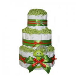 Organic 3 Tier Green Extravaganza Diaper Cake